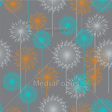 Vintage Floral Pattern In Pastel Colors. Hand Drawn Chrysanthemums Flowers.Vector Illustration For Design Of Gift Packs, Wrap, Patterns Fabric, Wallpaper, Web Sites And Other Stock Photo