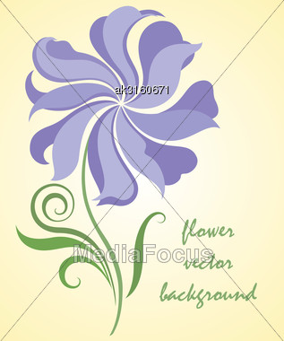 Vintage Flower Card. Abstract Flower Vector Illustration Stock Photo