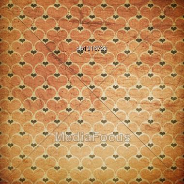 Vintage Grunge Hearts Background Stock Photo
