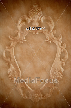 Vintage Paper With Decorative Frame Stamp Stock Photo