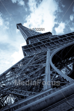 Vintage Picture Of The Eiffel Tower - Paris - France Stock Photo
