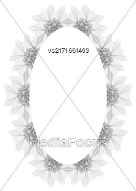 Vintage Retro Frame Isolated On White Background Stock Photo