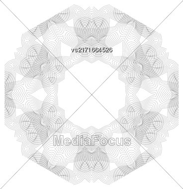 Vintage Retro Frame Isolated On White Background Stock Photo