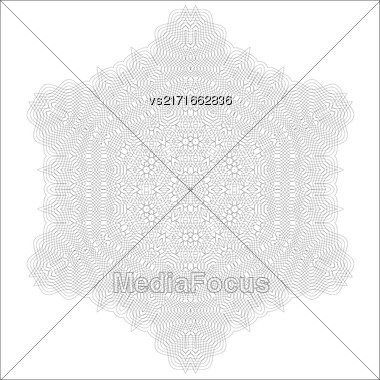 Vintage Retro Rosette Isolated On White Background Stock Photo