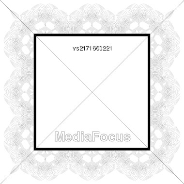 Vintage Retro Square Frame Isolated On White Background Stock Photo
