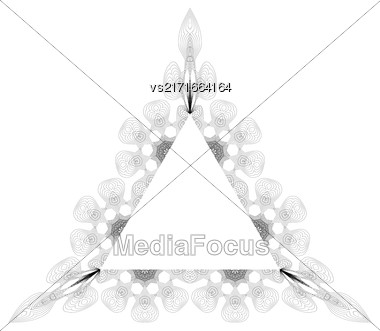 Vintage Triangle Frame Isolated On White Background Stock Photo