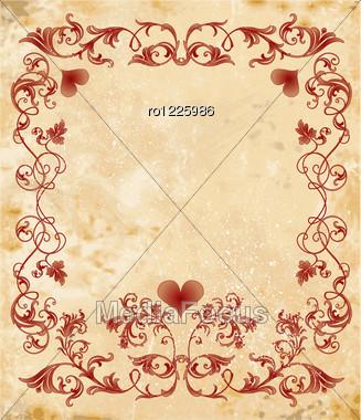 Vintage Valentines Day Design Stock Image Ro1225986