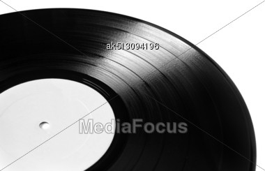 Vinyl Plate Isolated On White Stock Photo