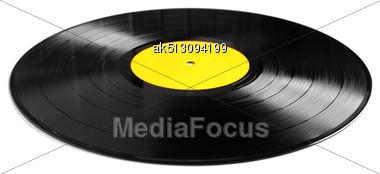Vinyl Plate Isolated On White Stock Photo