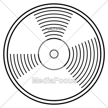 Vinyl Record Vector Illustration. Disc Design Flat Stayle Stock Photo