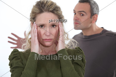 Violent Couple Dispute Stock Photo