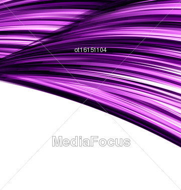 Violet Abstract Wave Techno Background Border Space For Text - Vector Stock Photo