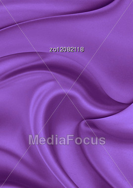 Violet Silk Material As The Main Background Stock Photo