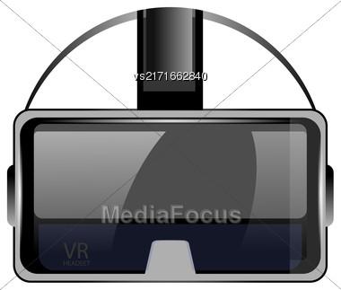 Virtual Reality Headset Isolated On White Background Stock Photo
