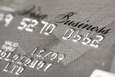 Visa Credit Card Close Up Shot Stock Photo