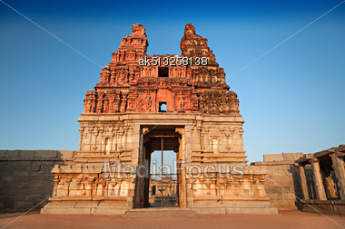 Vittala Temple At The Sunrise, Hampi, India Stock Photo
