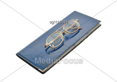 Wallet For Visit Cards And Eyeglasses Stock Photo