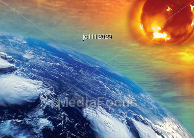 Warming By The Sun Of The Planet Ground Stock Photo