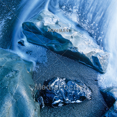 Water and Rocks Background Stock Photo