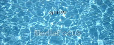 Water In The Pool Stock Photo