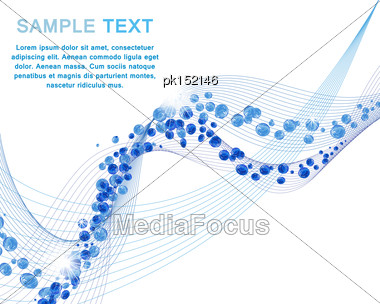 Water Lines Concept Design With Bubbles And Copy-space Stock Photo