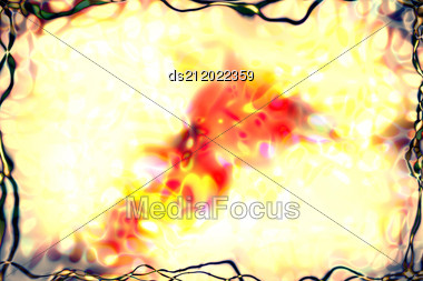 Watercolor Abstract Pattern. Computer Generated Illustration. Stock Photo
