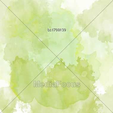 Watercolor Texture With Soft Colors, Vector Format Stock Photo