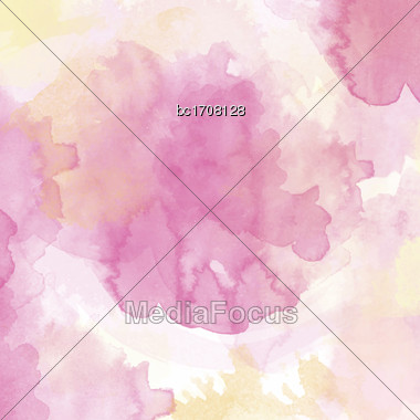 Watercolor Texture With Soft Tones, Vector Format Stock Photo