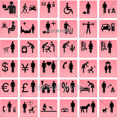 Website And Internet Icons -- People Stock Photo