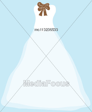 Wedding Background With Dress Stock Photo