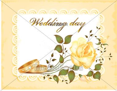 Wedding Card Stock Photo