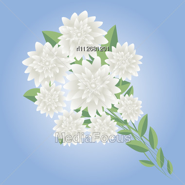 Wedding Flowers Arrangement Stock Photo