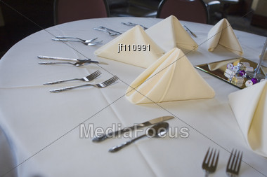 Wedding Table Set Up At The Reception Stock Photo & Stock Photo Wedding Table Set Up At Reception - Image JF110991 ...