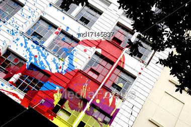 Wellington New Zealand City Downtown Waterfront View Stock Photo
