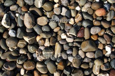 Wet Pebbles Stock Photo