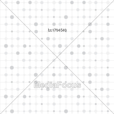White Background With Circles And Strips, Vector Format Stock Photo