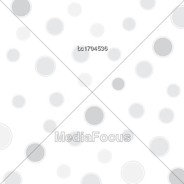 White Background With Circles, Vector Format Stock Photo