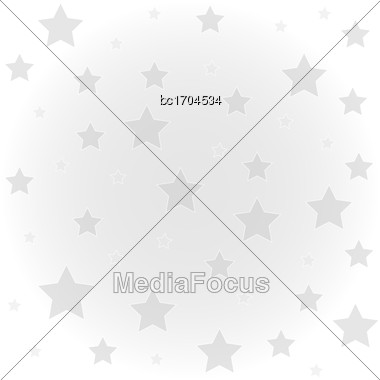 White Background With Flowers, Vector Format Stock Photo