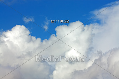White Clouds On Blue Sky Stock Photo
