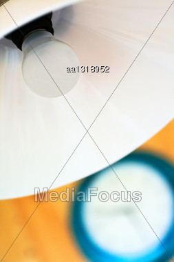 White Light And Blurred In The Blue Clock Housing Stock Photo