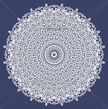 White Ornamental Line Pattern. Decorative Texture. Oriental Geometric Ornament Stock Photo