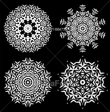White Ornamental Line Pattern. Endless Texture. Oriental Geometric Ornament Stock Photo