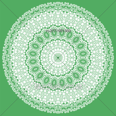 White Ornamental Line Pattern. Oriental Geometric Ornament Stock Photo