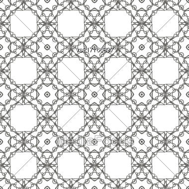 White Ornamental Seamless Line Pattern. Endless Texture. Oriental Geometric Ornament Stock Photo