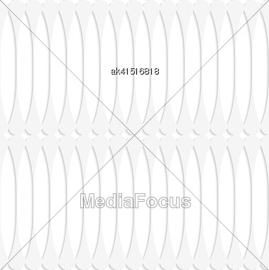 White Paper Background. Seamless Patter With Cut Out Paper Effect. Realistic Shadow Creates 3D Modern Texture.Paper White Fence With Thickening Stock Photo