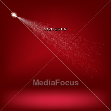 White Rising Star On Red Gradient Background Stock Photo
