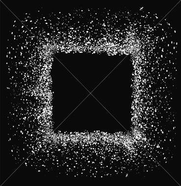 White Square Frame Isolated On Black Background Stock Photo