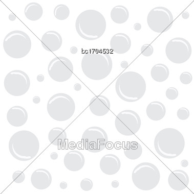 White Texture With Bubbles, Vector Format Stock Photo