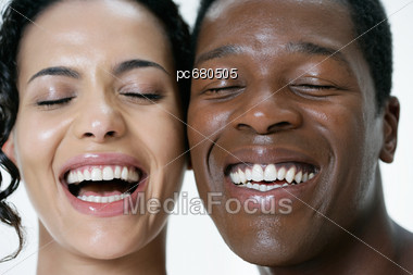 White Women And African-American Men, Couple Stock Photo