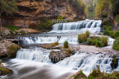 Willow Falls At Willow River State Park Stock Photo